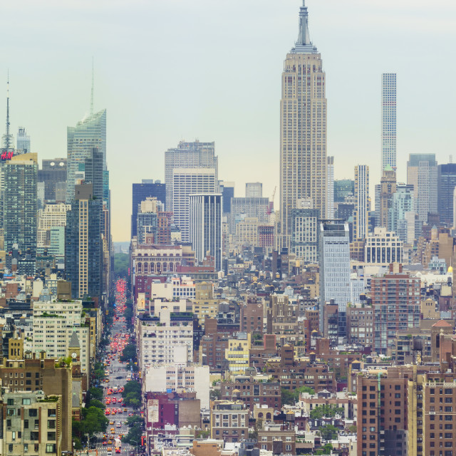 """""""The Empire State Building and Manhattan skyline, New York City, United States..."""" stock image"""