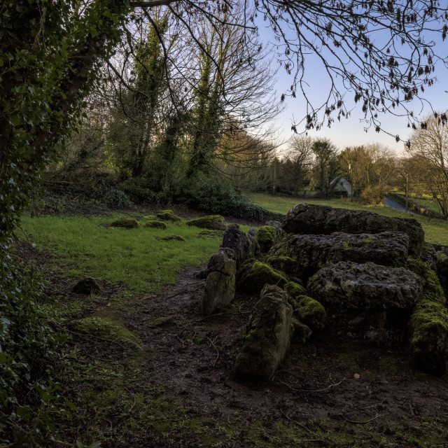 """Lough Gur, Giant's Grave, County Limerick, Ireland"" stock image"