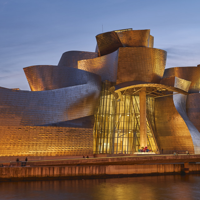 """Guggenheim Museum by Frank Gehry. Bilbao, Spain"" stock image"