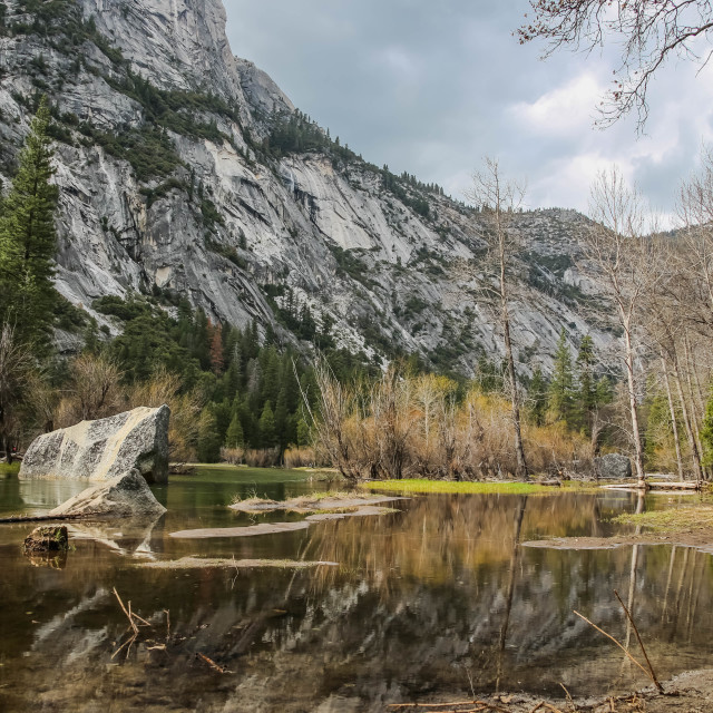 """Mirror Lake, Yosemite National Park"" stock image"