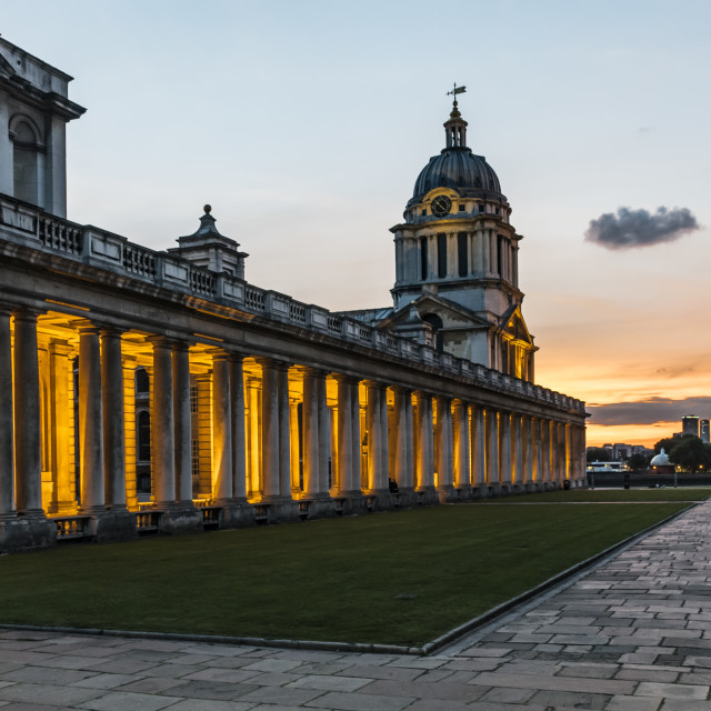 """London - Greenwich - Old Naval College"" stock image"