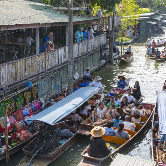 """Damnoen Saduak Floating Markets, Bangkok, Thailand, Southeast Asia, Asia"" stock image"