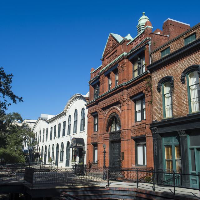 """Freemansion hall, Savannah, Georgia, USA"" stock image"