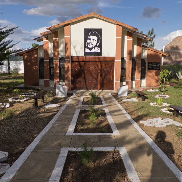 """""""Che Guevara museum in Vallegrande, Bolivia, where he was taken after being..."""" stock image"""