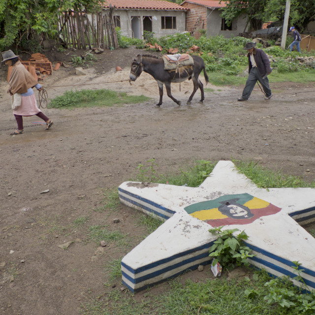 """""""Che Guevara trail in La Higuera, Bolivia, where he was killed after being..."""" stock image"""