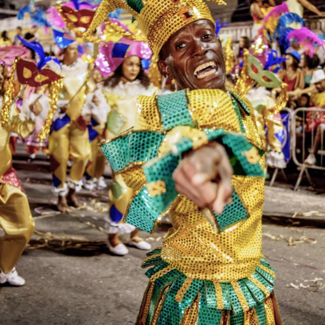"""Brazil, State of Rio de Janeiro, City of Rio de Janeiro, Samba Dancer in the..."" stock image"