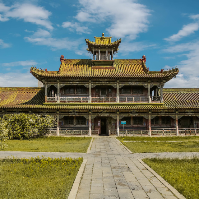 """Palace of Bogd Khan"" stock image"