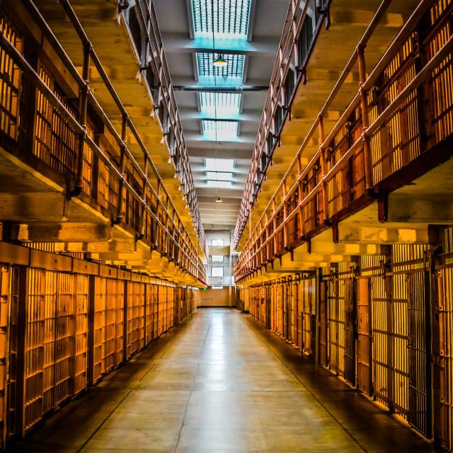 """Alcatraz Cells"" stock image"