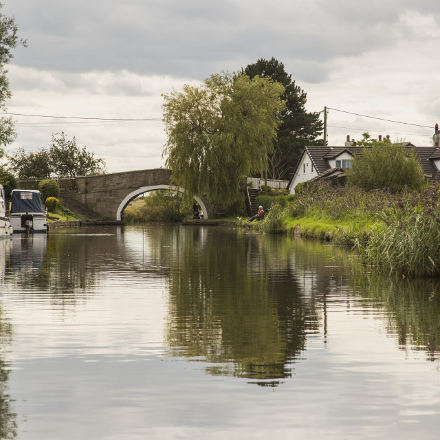 """Leeds Liverpool Canal"" stock image"