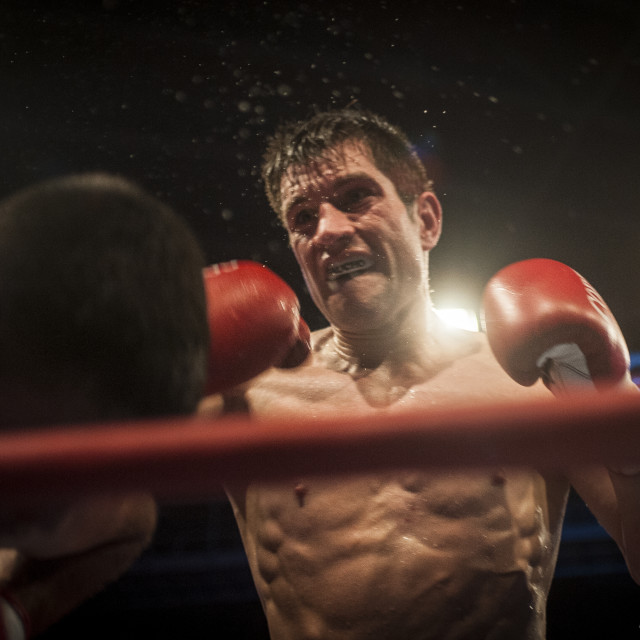 """Close to the knockout"" stock image"