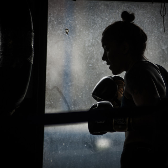 """Boxing girl"" stock image"
