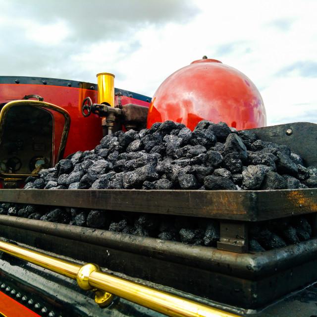 """""""Coal Tender"""" stock image"""