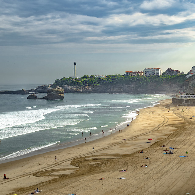 """""""Biarritz By The Beach"""" stock image"""