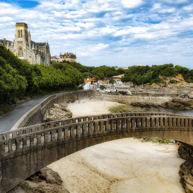 """""""Paroisse Notre-Dame du Rocher - Église Sainte-Eugénie"""" stock image"""