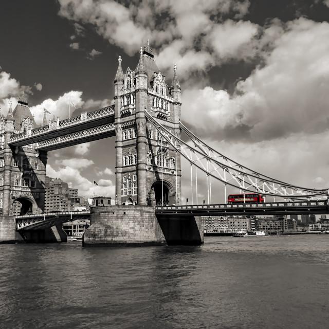 """""""Tower Bridge BnW"""" stock image"""