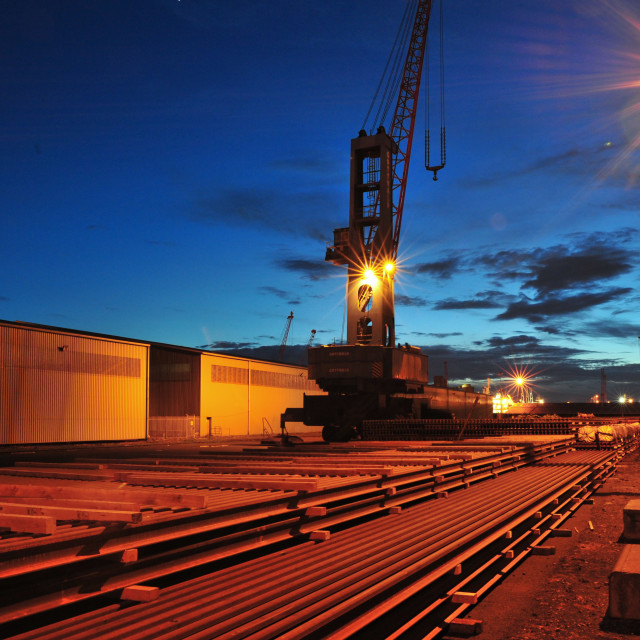 """Immingham Dock"" stock image"
