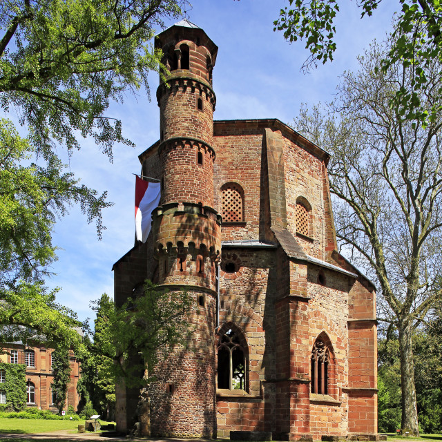 """""""Alter Turm (Old Tower), Mettlach, Saarland, Germany"""" stock image"""