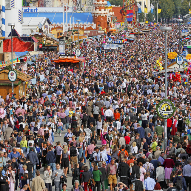 """Oktoberfest, Munich, Upper Bavaria, Bavaria, Germany"" stock image"