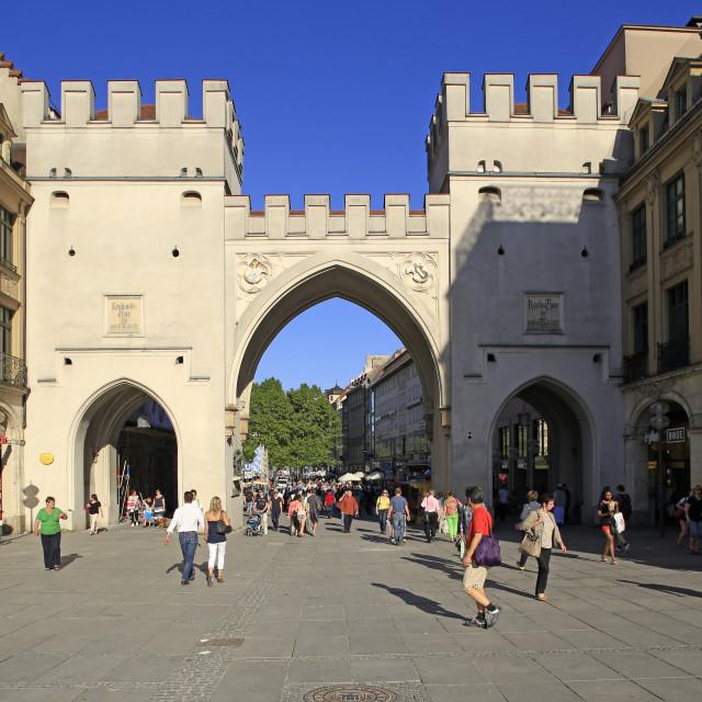 """""""Karlstor City Gate, Munich, Upper Bavaria, Bavaria, Germany"""" stock image"""