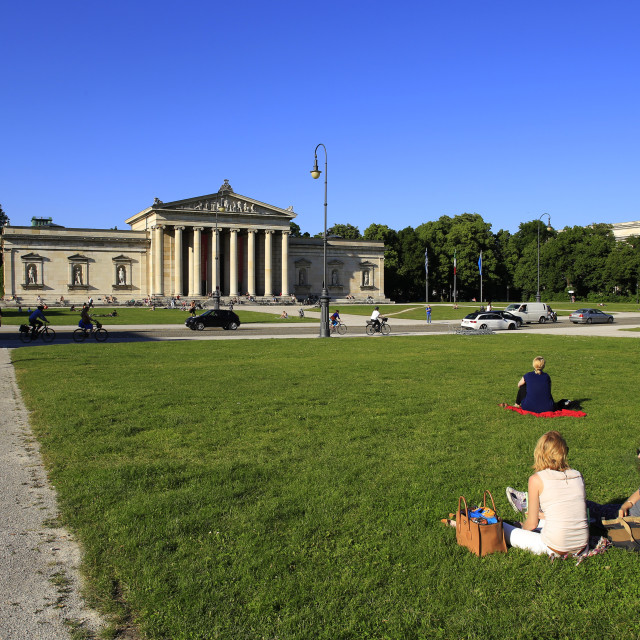 """Glyptotheque Museum on Koenigsplatz Square, Munich, Upper Bavaria, Bavaria,..."" stock image"