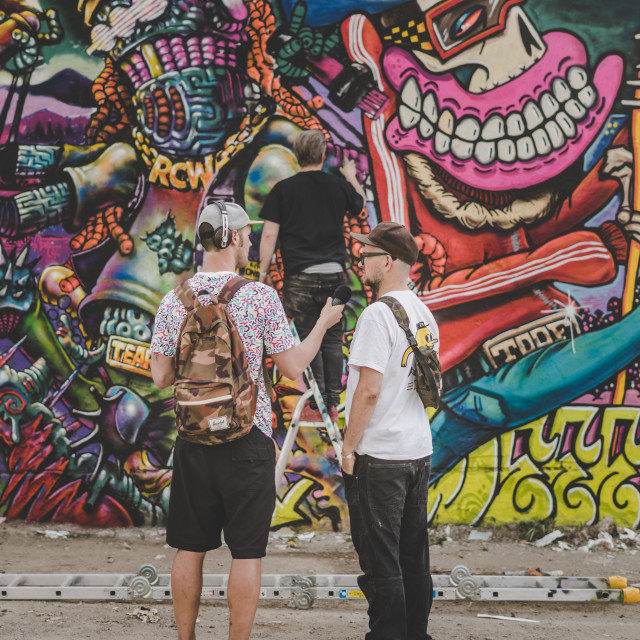 """Interview Graffiti"" stock image"