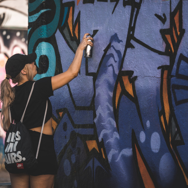 """Woman Graffiti"" stock image"
