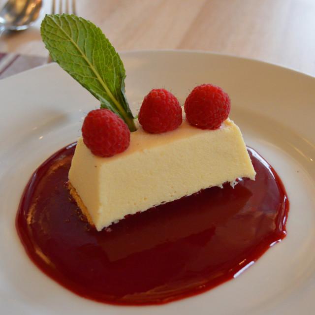 """Dessert: raspberry cake"" stock image"