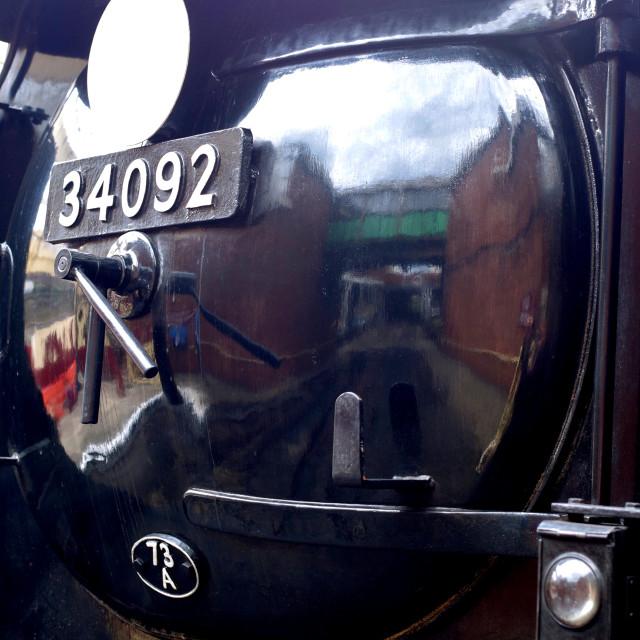 """""""Reflection of Bury Station"""" stock image"""