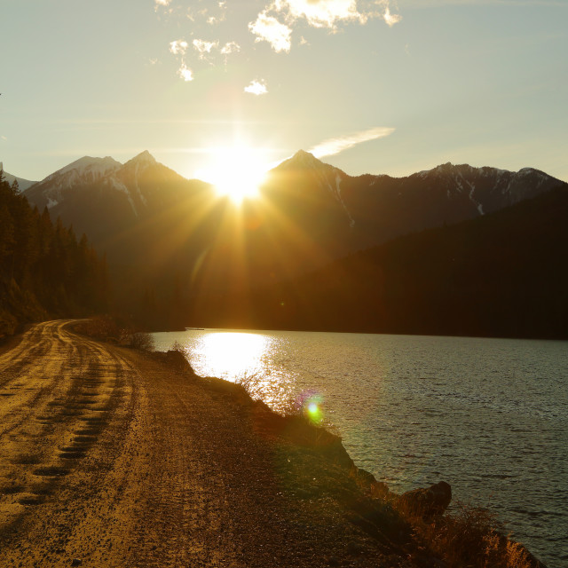"""""""Sunset over Rocky Mountains"""" stock image"""