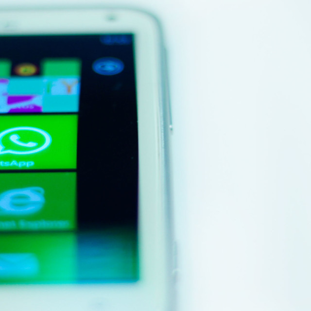 """""""Windows Phone - Whatsapp"""" stock image"""