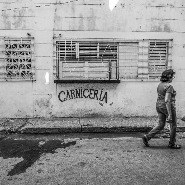 """""""A meat shop in Havana"""" stock image"""