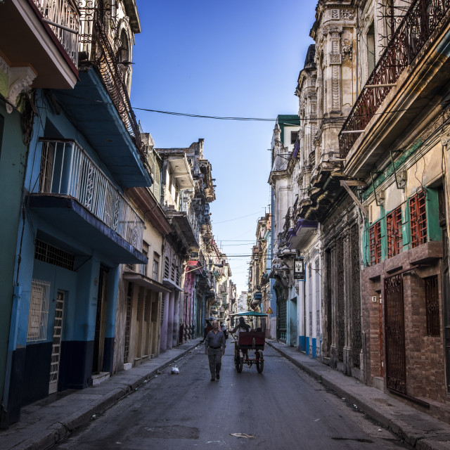 """The streets of Havana"" stock image"