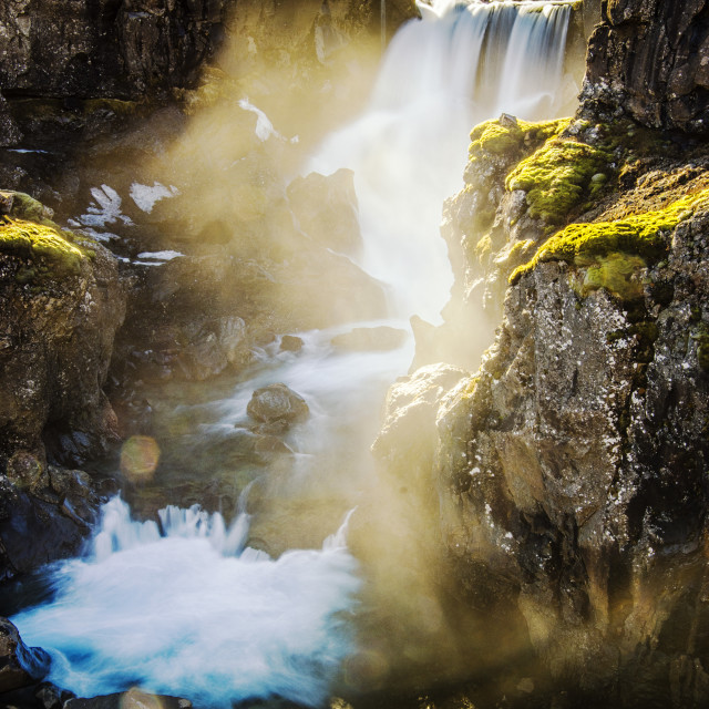 """""""Waterfall in Iceland"""" stock image"""
