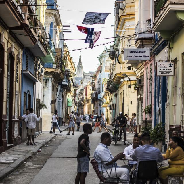 """Cuban alleyways"" stock image"