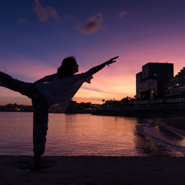 """""""Posing for the Sunset"""" stock image"""