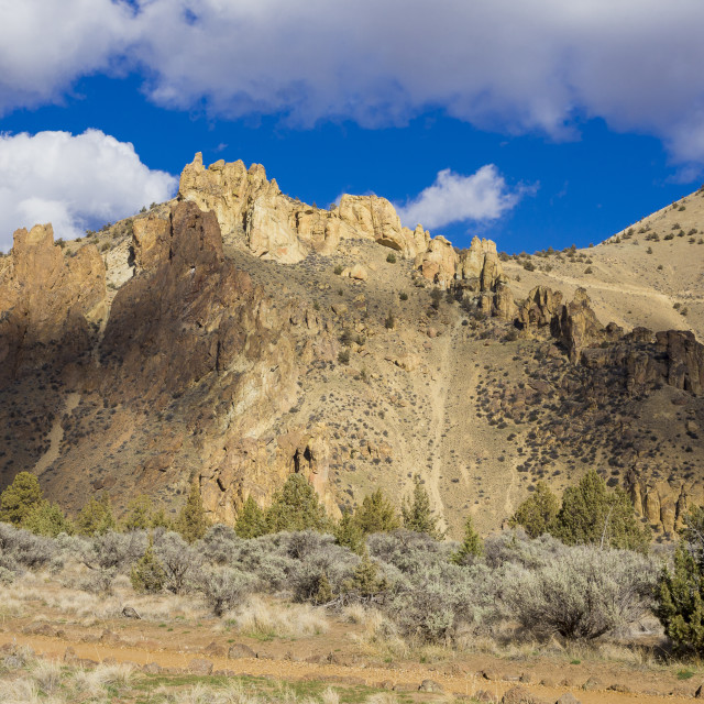 """Smith Rock State Park in Central Oregon"" stock image"