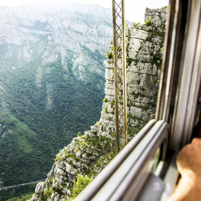 """View of the canyon from a train"" stock image"