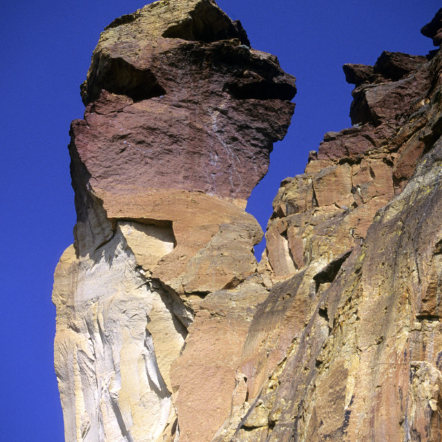 """Monkey Face at Smith Rock State Park, Oregon, USA"" stock image"