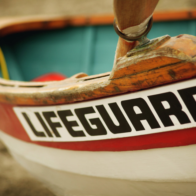 """A Lifeguard's Boat"" stock image"