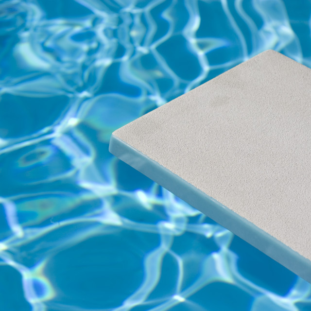 """""""Empty Diving Board And Water"""" stock image"""