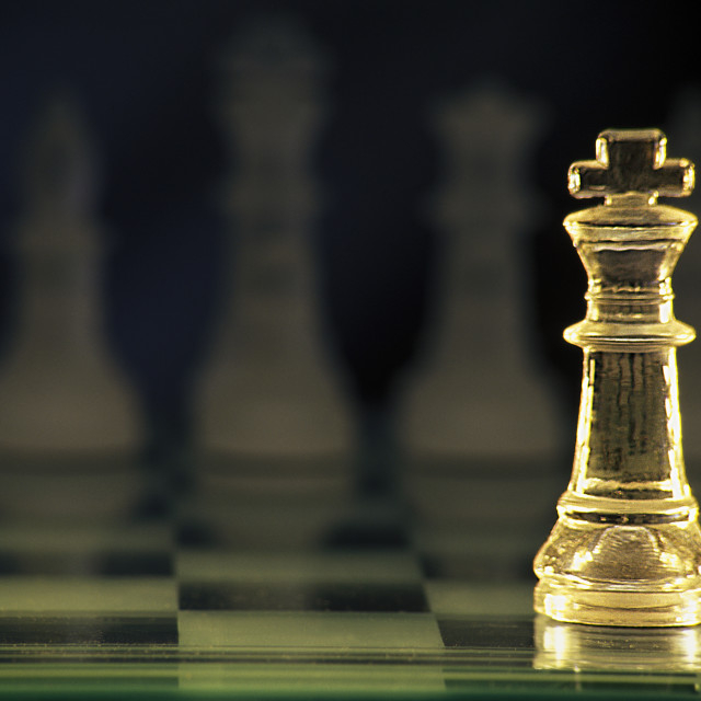 """""""Portrait Of A King In Chess"""" stock image"""