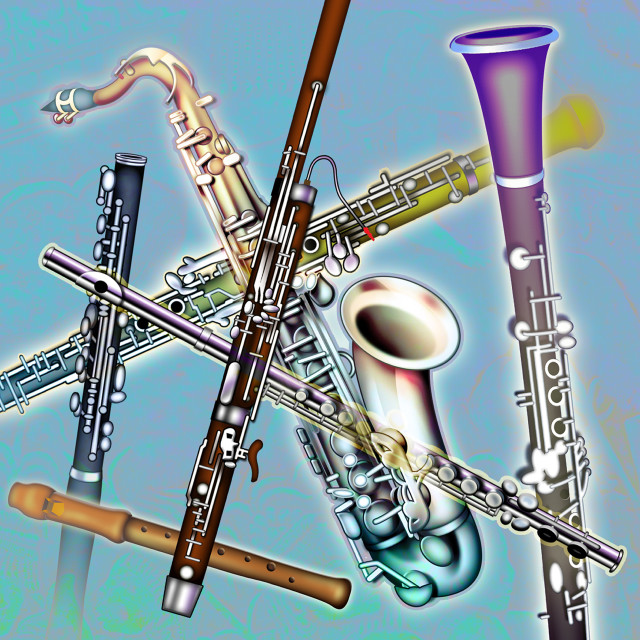 """Wind Instruments"" stock image"
