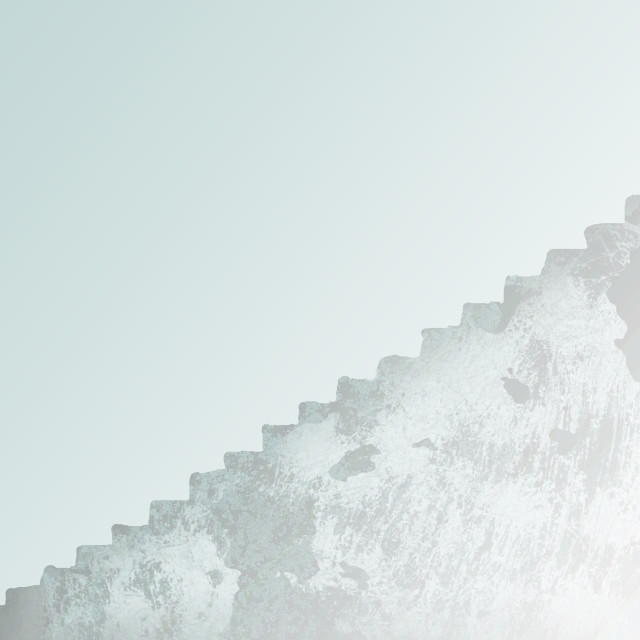 """""""Illustration Of Woman Ascending Large Staircase"""" stock image"""