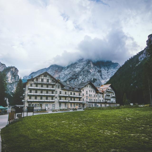 """Alpine Hotel"" stock image"
