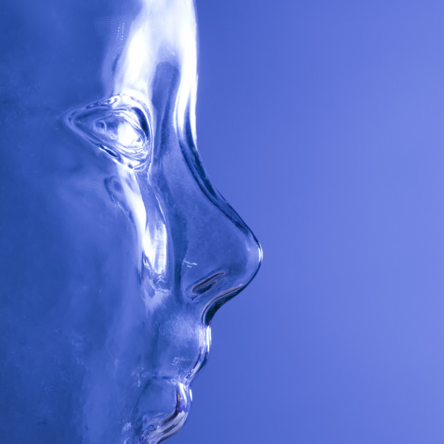 """Profile Of A Face In Blue"" stock image"