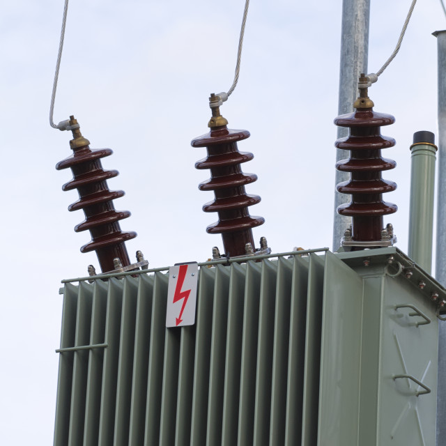 """Electric Transformer Closeup"" stock image"