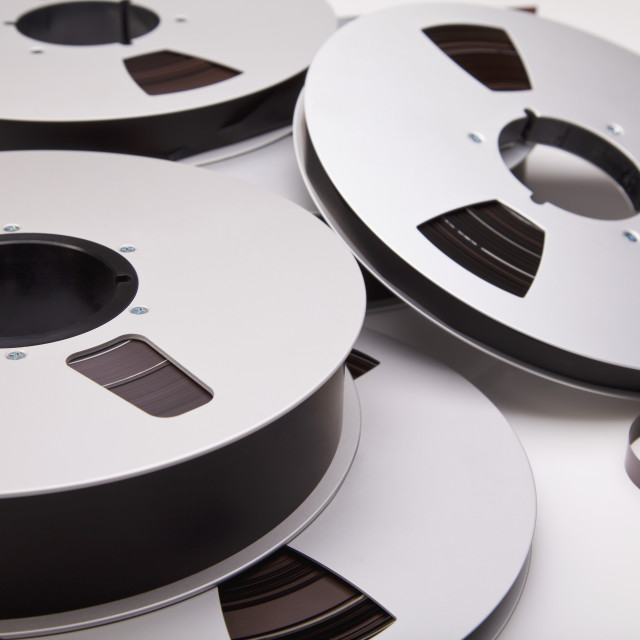 """""""Audio Recording Reel-To-Reel Tapes"""" stock image"""