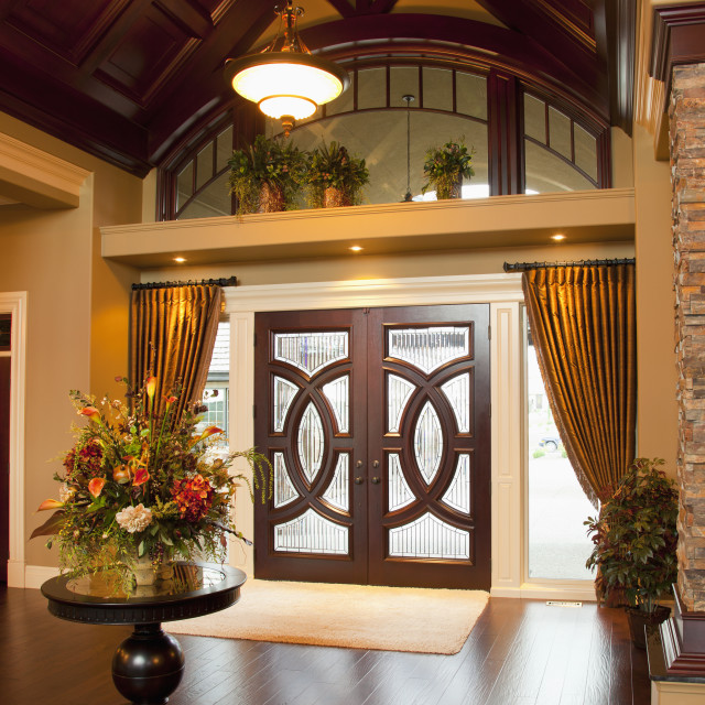 """Foyer Of Luxurious Home; St. Albert, Alberta, Canada"" stock image"