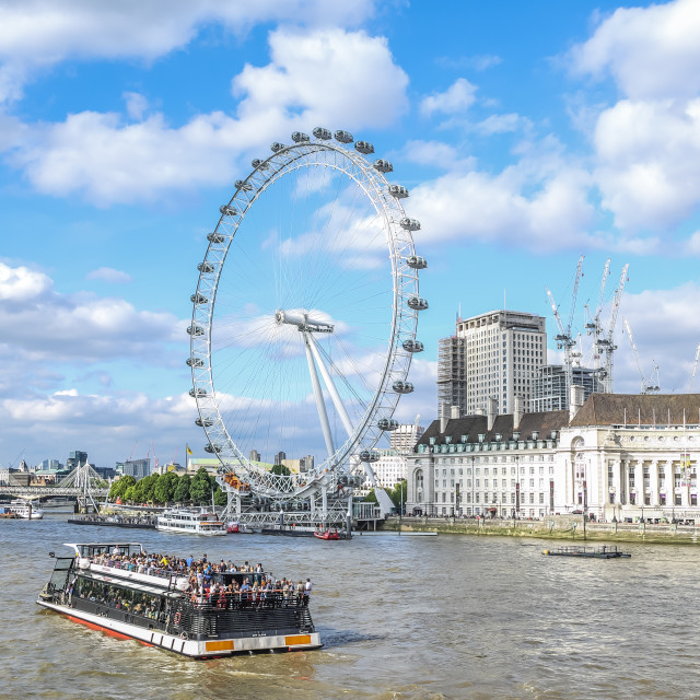 """View of London Eye"" stock image"