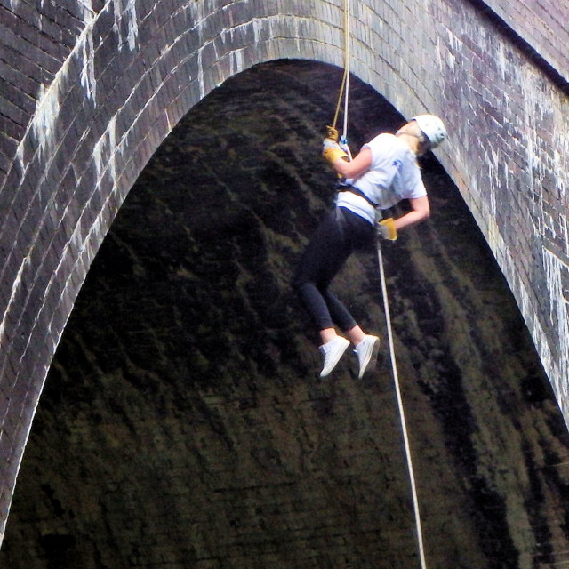 """Abseiling"" stock image"